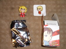 Street Fighter Kid Robot Ken Red Series 1 w/ box, foil, card, and figure