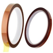 ASPEN BURG 2 Rolls (10mm and 5mm) High Temperature Heat Resistant Kapton Tape Po