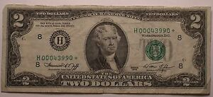 United States 1976 Bicentennial Star Note~Low Serial Number