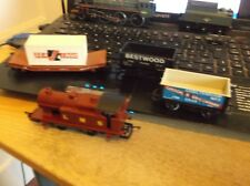 HORNBY 0 4 0 LMS LOCOMOTIVE PLUS 2 WAGONS LOT2