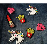 2X French fries Heart Embroidery Iron on patch sew applique DIY Motif Cartoon