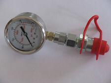 Hydrauliktester Manometer, 250bar mit Stecker Druckprüfer Mess-Set Hydraulik
