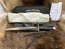 Randall 2 Model Stiletto With Black Micarta Handles Genuine Leather Sheath Mint