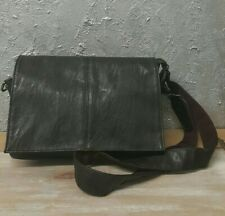 Womens Small Chocolate Brown Faux Leather Bag Cross Body Shoulder Handbag