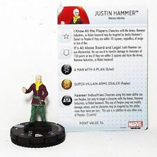 HeroClix Miniatures - Justin Hammer  -=NM=- w/ stat card
