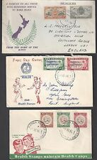 NEW ZEALAND 1950s THREE HEALTH STAMP ISSUES ON FDCs