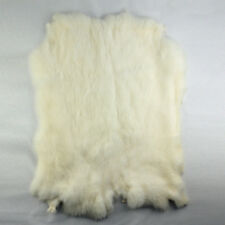 lieomo Genuine Naturally Rabbit fur skin tanned Leather Hides craft White Pelts