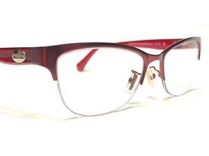 Coach HC5066 9232 Women's Satin Burgundy Half Rim Rx Eyeglasses Frames 51/16~135