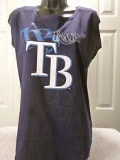 "9601-5 WOMENS Majestic TAMPA BAY RAYS ""BIG SIZES"" TANK TOP Jersey Shirt BLUE 4XL"