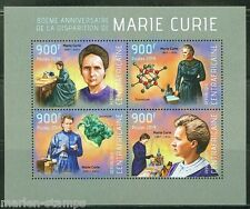 CENTRAL AFRICA 40th MEMORIAL ANNIVERSARY OF MARIE CURIE  SHEET MINT NH