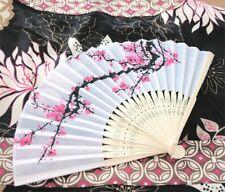 Cherry Blossom Silk Fans Asian Wedding Fan Favors