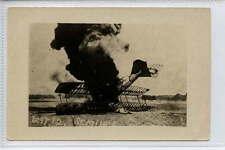 (Le528-363) Real Photo of German Aeroplane Wreckage, St. Mihiel 1918 Unused VG