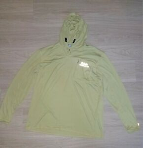 Cabelas Guidewear Fishing Shirt with Hoody and Hand Guard UV50 Protection -Green