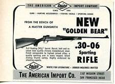 1968 small Print Ad of The American Import Co Taico Golden Bear 30-06 Rifle