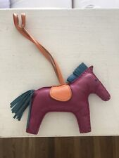 HERMES TOSCA RODEO BAG CHARM PINK PURPLE HORSE FOR BIRKIN KELLY LINDY