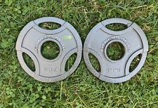 """5 lb Weight Plates Set (2x 5LB Pair) Olympic 2"""" - Fitness Gear - FREE Shipping"""