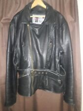 Evel Knievel Genuine Officially Licensed Black Leather Jacket Sz L Rare!