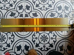 Polished Brass Door Kick Plate Push Plates Drilled & CSK Beautiful UK Made