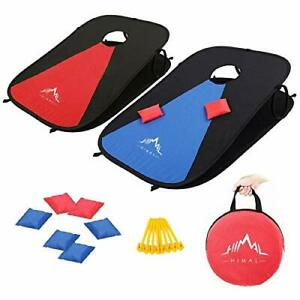 Himal Collapsible Portable Corn Hole Boards With 8 Cornhole Bean Bags  3 x 2-...