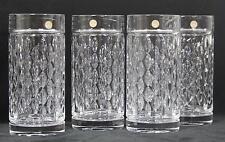 Ralph Lauren Aston 24% Lead Crystal Highball 12 Ounce Glasses Set of Four New