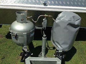 Gas Bottle Cover Caravan (Grey PVC)