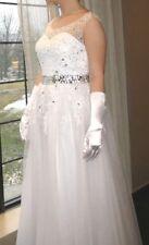 Sleeveless Long A Line Wedding Dress Bridal Gown