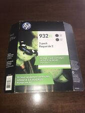 2pk Genuine HP 932XL High Yield Black OfficeJet 6100 6600 7110 7612 12/2018