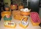 Longaberger Basket Lot Rare Discovery, Christmas, Mothers Day Darning, Cracker++