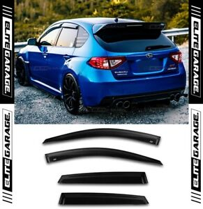Side Window Visors Weather Shields For Subaru Impreza WRX STI 08-14 Hatch Sedan