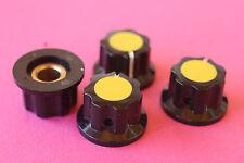 Cuatro Knobs Pedales Potentiometer Botones Pedal 6.35 mm. Frontal Amarillo Poti