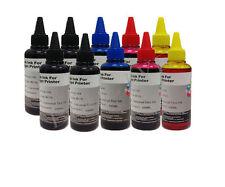 KIT 10 da 100ml inchiostro colori Ricarica Cartucce per Brother Cano Epson HP