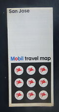 1969 San Jose street map Mobil  oil  gas Berryessa Los Gatos Alum Rock