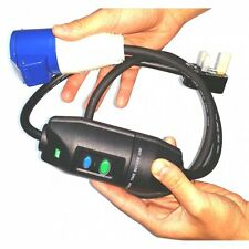 Interruttore RCD Viaggio in linea 13 un Maschio Plug Conversione 16 Amp presa FLY piombo e11085