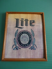 VINTAGE LITE BEER A FINE PILSNER BEER MARQUETRY PLAQUE BAR SIGN