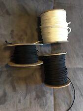 Lacrosse Lax Stick Stringing Sidewall 3 spools 1 Wht 2 Blk