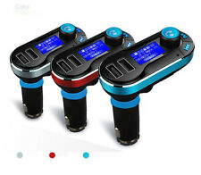 Music streaming Bluetooth Hands free Fm transmitter Dual USB charger Car Kit NEW