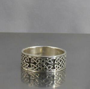 CrazieM Sterling 925 Silver Vintage Southwest Estate Ring Size 9-9.75 4.6g x35