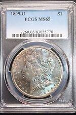1899-O Morgan Silver Dollar *PCGS MS65* Vibrant Blue Satin Toning Unique Toner!