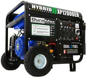 Duromax Portable Generator 12,000-Watt 6-Circuits Dual Fuel Electric Switch