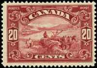 Canada #157 mint F-VF OG NH 1929 Scroll Issue 20c dark carmine Harvesting Wheat