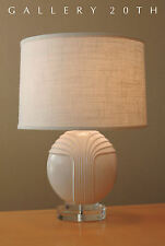 RARE! MODERN DECO ITALIAN LUCITE TABLE LAMP! Mid Century Eames Vtg Raymor Decor