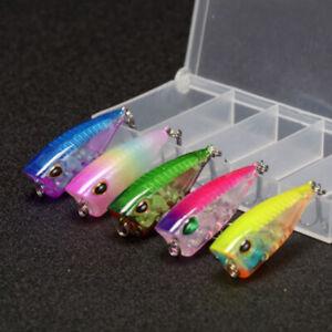 Mini Wobbler Small Popper Set 5 pcs Top Water Fishing Floating Lure Crankbait