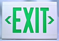 Hubbell Dual-Lite LXUGW Exit Sign, White with Green Letters 120/277VAC NEW