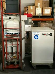 Powerex SES0508S5773377 5HP Rotary Screw Compressor with 80 Gallon Tank & Dryer