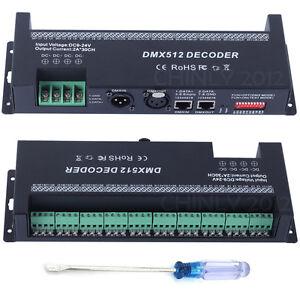 30 Kanäle DMX 512 RGB LED Streifen Licht Controller Dimmer 2A/CH DC9-24V Decoder