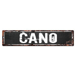 SLND1185 CANO MAN CAVE Street Rustic Chic Sign Home man cave Decor Gift