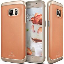 New !! Caseology® - Galaxy S7 - Envoy - Premium Leather Bumper Case - Pink