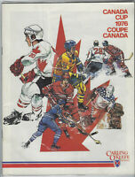 1976 Canada Cup Hockey Program