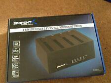 "Sabrent 4-Bay USB 3.0 SATA 2.5""/3.5"" SSD/HDD Docking Station (DS-U3B4)"