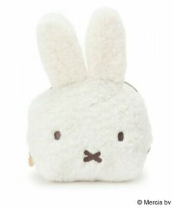 miffy × index special collaboration fake fur face pouch White Japan Limited item